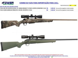 COMBO 02 FUZIS COM LUNETA