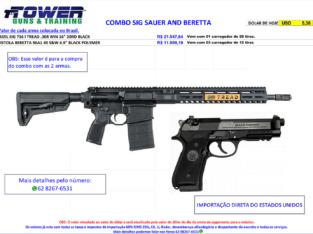 COMBO SIG SAUER SIG716I AND BERETTA 96A1